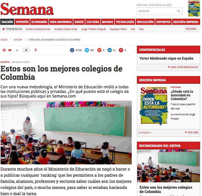 100 mejores colegios en colombia:
